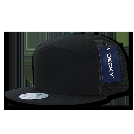 07e240bf6cb51 Decky 1133-BLK 7 Panel Trucker Caps  44  Black