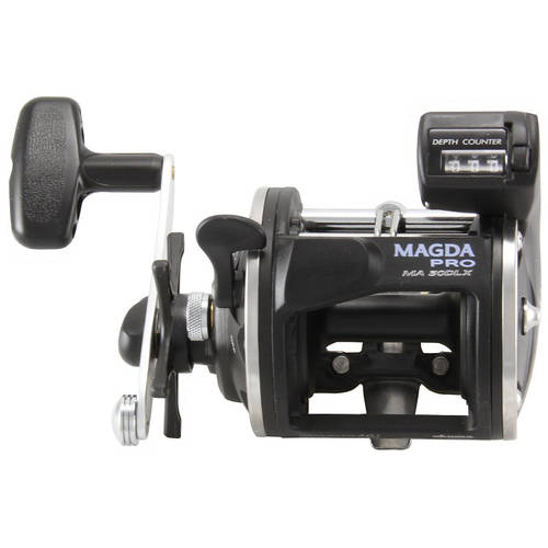 Magda Star Drag Levelwind Line Counter Reel, Left Hand, Size 30
