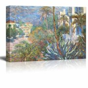 "wall26 - Villas at Bordighera by Claude Monet - Canvas Print Wall Art Famous Oil Painting Reproduction - 32"" x 48"""