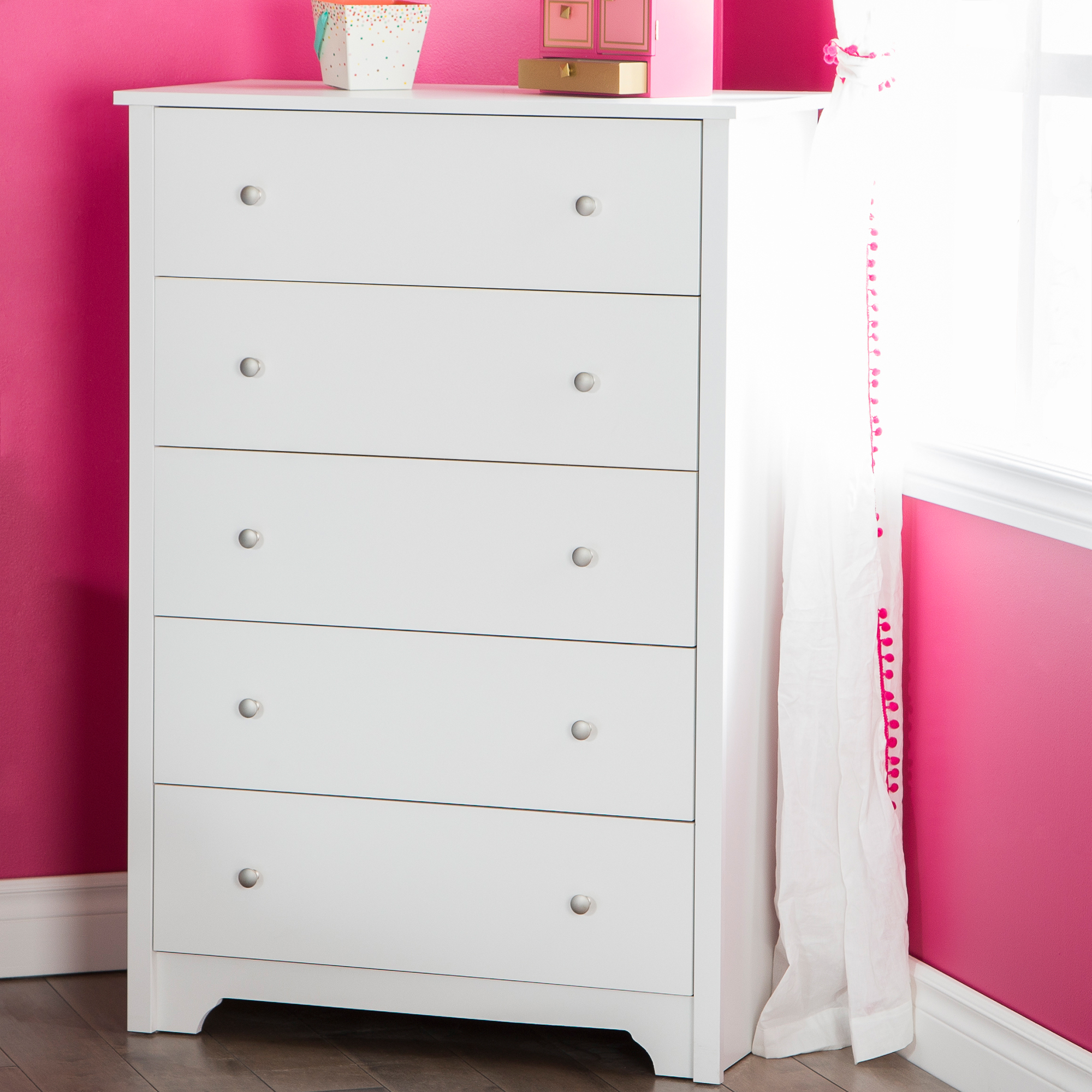 South Shore Vito  Drawer Chest Multiple Finishes