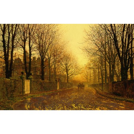 Framed Art for Your Wall John Atkinson Grimshaw - Autumn Sunset 10x13 Frame