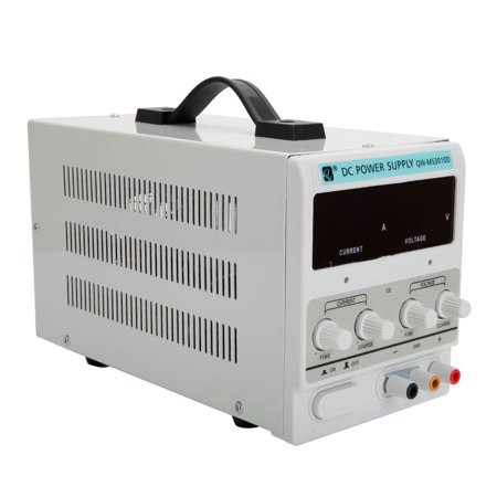 Zimtown 110V AC 30V 10A DC Power Supply Precision Variable Digital Adjustable with Clip Cable ()