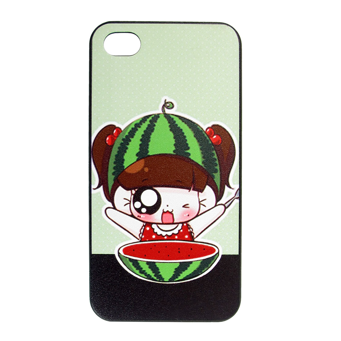 Watermelon Girl Design Hard Back Case Cover Bumper for Apple iPhone 4 4G 4S 4GS