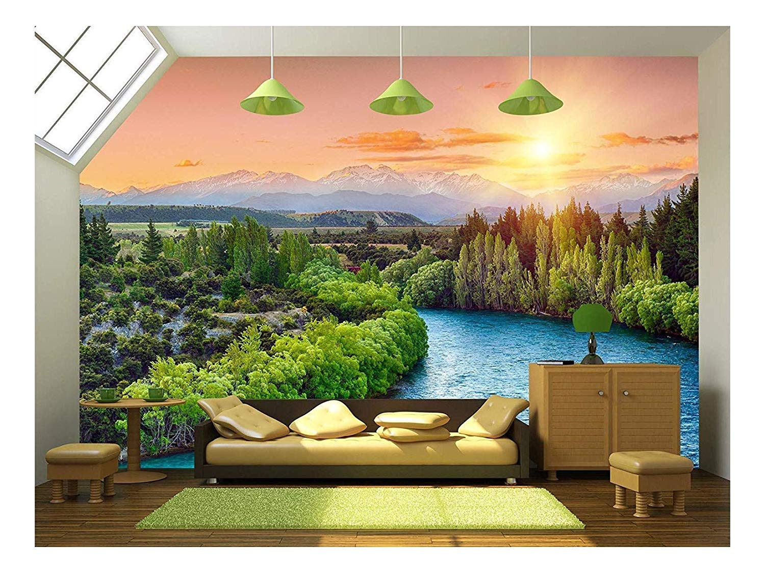 Great wall aerial view Self-adhesive Door sticker Decoration mural Removeable