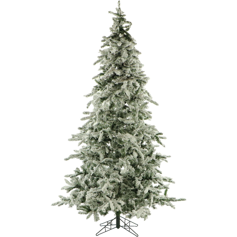 Fraser Hill Farm 9-Ft. Flocked Mountain Pine Artificial Christmas Tree