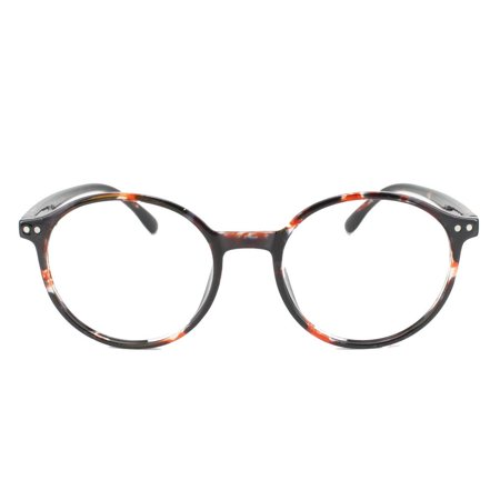 0c84021067 Eye Buy Express Prescription Glasses Mens Womens Orange Black Tortoiseshell  Retro Style Rounded Reading Glasses Anti Glare grade - Walmart.com