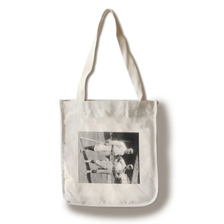 Brooklyn Dodgers Photo - Hans Lobert, NY Giants; Joe Schultz Brooklyn Dodgers, Baseball Photo (100% Cotton Tote Bag - Reusable)