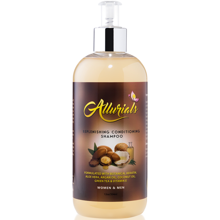 Replenishing Conditioning Shampoo - Infused With Aloe Vera, Botanica Keratin, Argan Oil, Coconut Oil & Green Tea Extract Nourishes & Detangles Hair – By (Jr Watkins Aloe And Green Tea Shampoo)