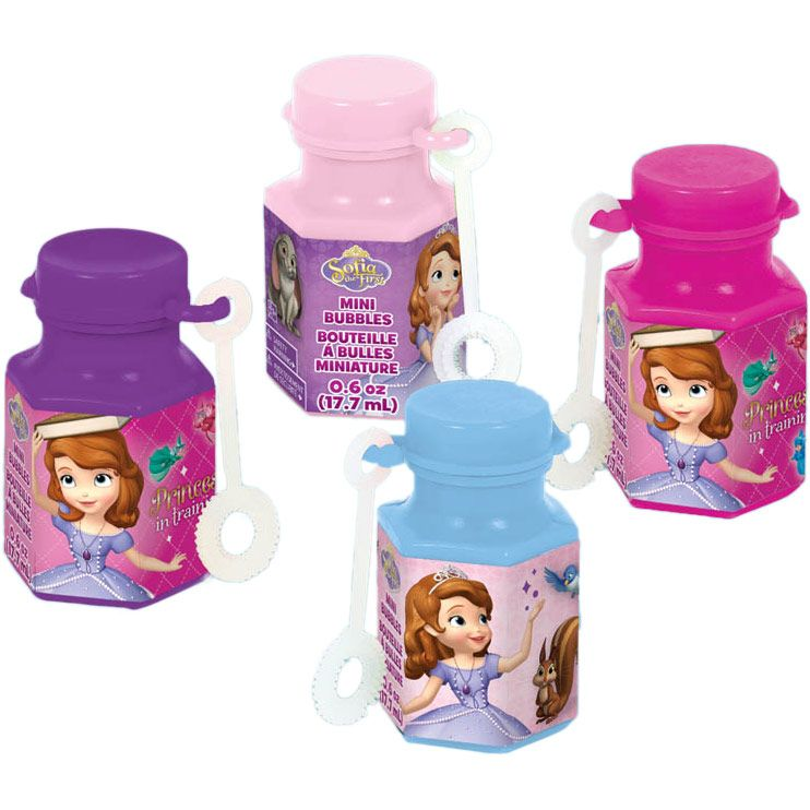 Sofia The First .6Oz Mini Bubble Favors (12 Pack) - Party Supplies