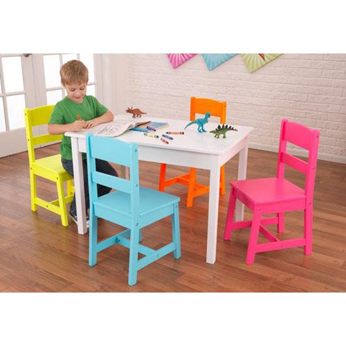 KidKraft Highlighter Table and 4 Chair Set - 26324
