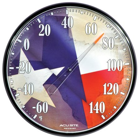 AcuRite Texas Flag Indoor/Outdoor Thermometer 01922 ...