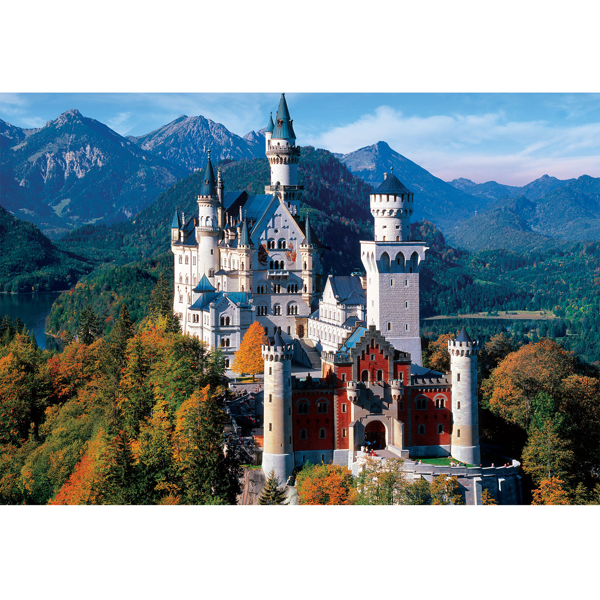 Buffalo Games Large Pieces Neuschwanstein Castle Jigsaw Puzzle, 1,000 Pieces