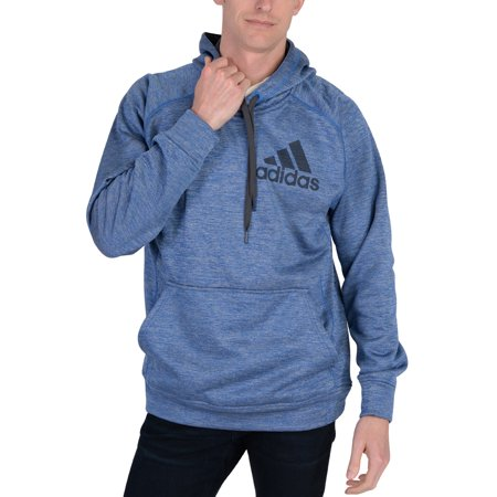 Adidas Mens Team Issue Pullover Hoodie Blue