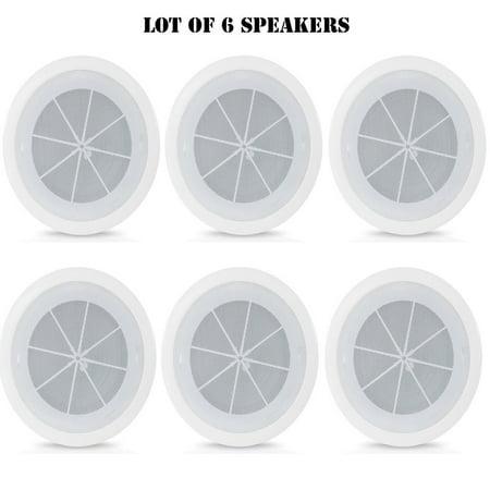 - (6) Pyle PDICS6 6.5-Inch Full Range In-Ceiling Flush Mount Enclosure Speaker System - Free Shipping