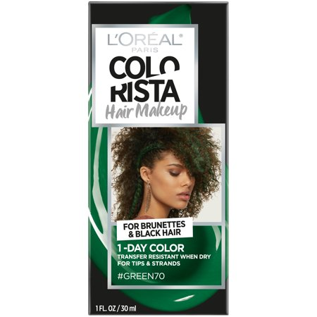 L'Oreal Paris Colorista Hair Makeup 1-Day Hair Color, Green70 (for brunettes), 1 fl. oz.](Geisha Hair And Makeup For Halloween)