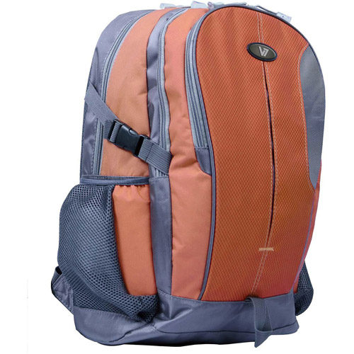 Odyssey Laptop Backpack 16.1 Ergonomic Expedition-Style Backpack, Grey and Orange