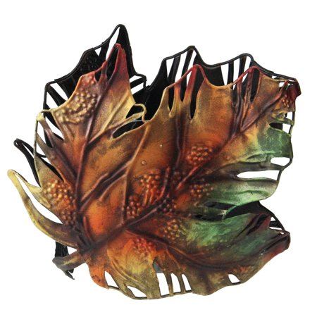 "6"" Autumn Colored Maple Leaf Metal Thanksgiving Leaf Votive Candle Holder - image 1 de 1"