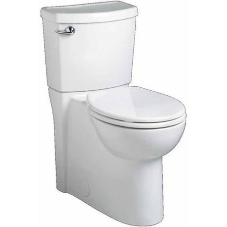 American Standard 2988.101.020 Cadet 3 Flowise Right-Height Round Front 1.28 GPF Toilet with Seat, 12