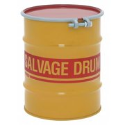 ZORO SELECT HM1002Q Salvage Drum,Open Head,10 gal.,Yellow
