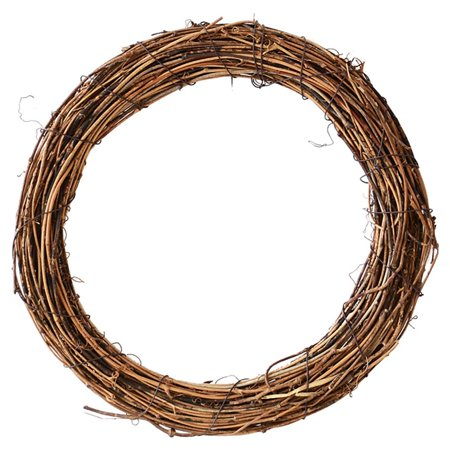 Halloween Yarn Wreath Diy (Christmas Natural Dried Flowers Rattan Artificial Handmade Wreath Wedding Christmas Decor DIY Hanging Weaved Garlands)
