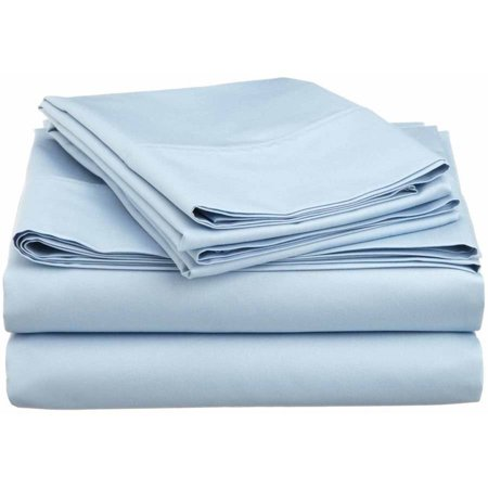 Superior 600 Thread Count Wrinkle-Resistant Luxury Cotton Blend Deep Pocket Solid Sheet Set - Green Flats