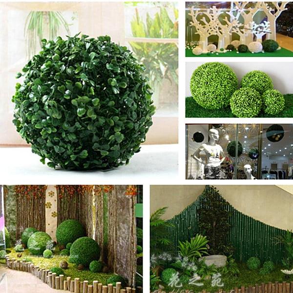 Artificial Plant Parties Foliage Green Grass Ball Pom Poms Garden Home Decor