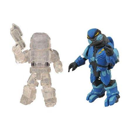Spartan Active Camouflage & Elite Assault Blue Minifigure 2-Pack