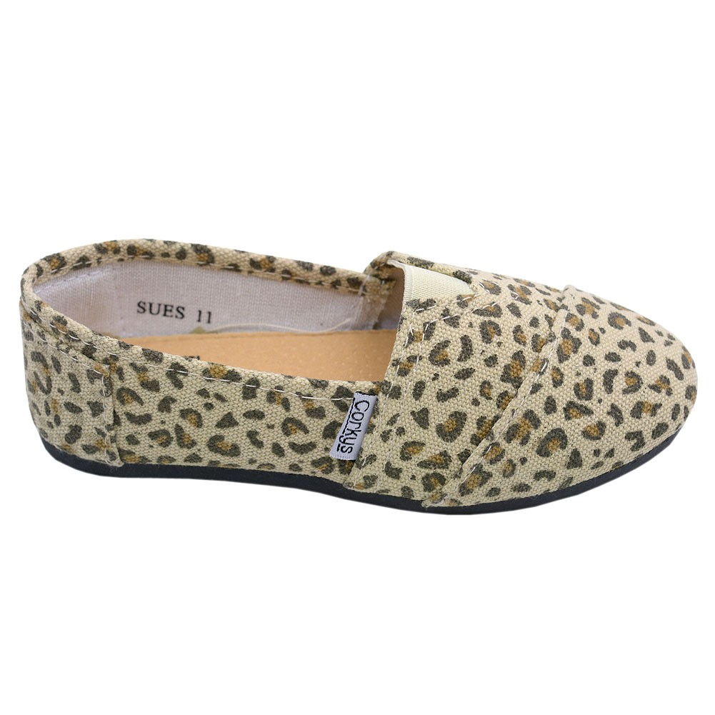 Corkys Girls Brown Tan Leopard Pattern Casual Round Toe Slip On Flats 12 Kids by Consolidated Clothiers