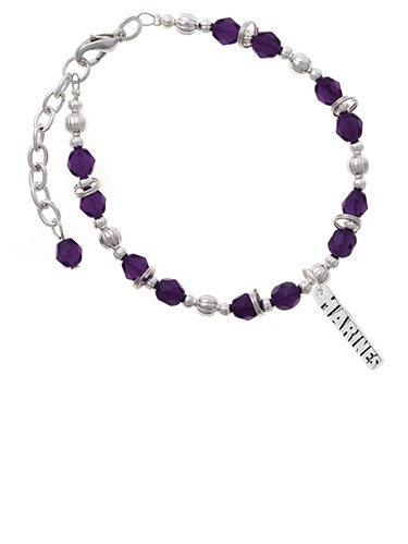 Marines Purple Beaded Bracelet by Delight and Co.