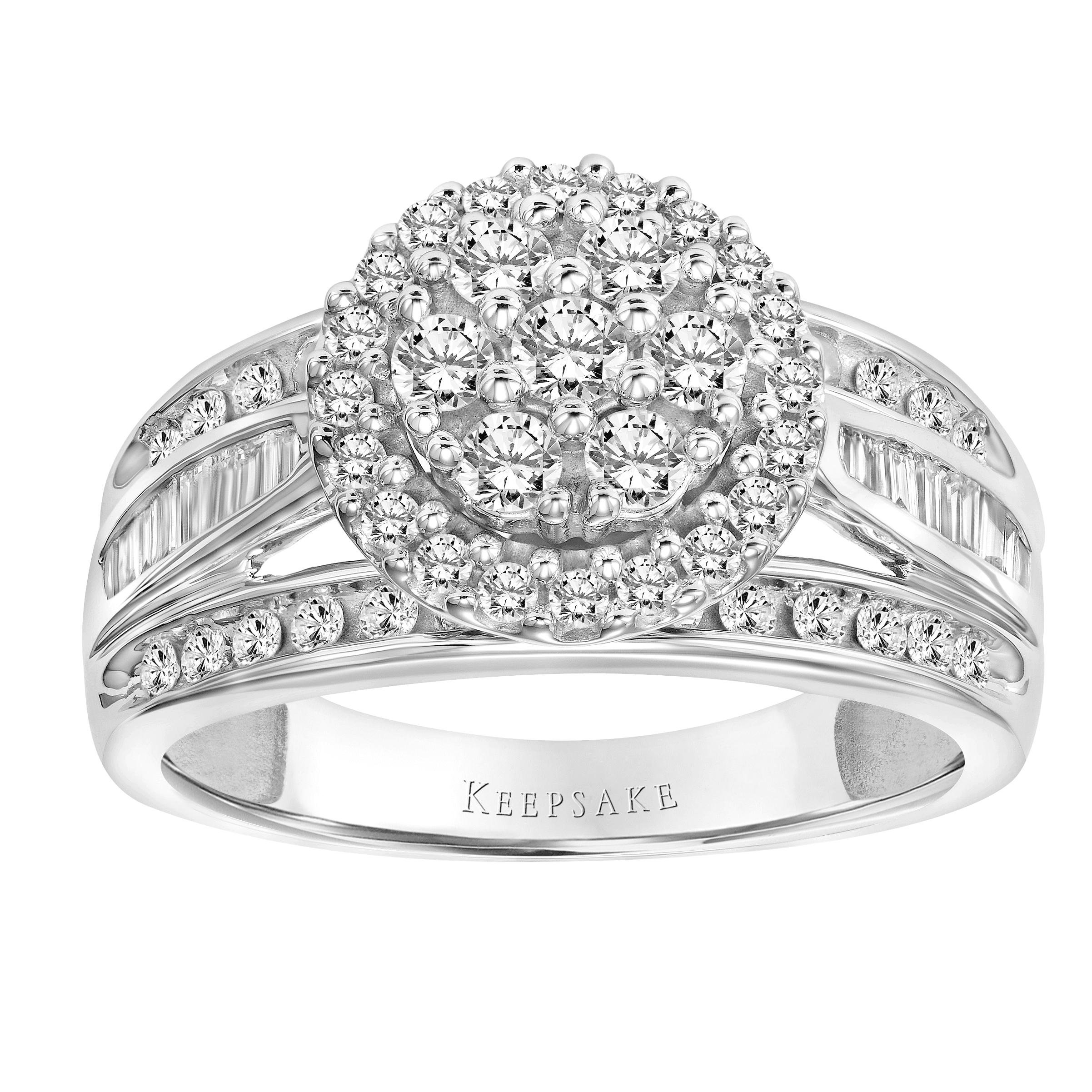 Keepsake Limited Edition 2017 1 Carat T.W. Certified Diamond 10kt White Gold Ring by Frederick Goldman Inc.
