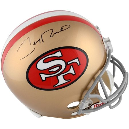 Jerry Rice San Francisco 49ers Autographed Throw Back Replica Helmet - Fanatics Authentic (Jerry Rice Signed Pro Helmet)