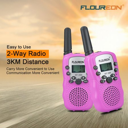 Walkie Talkies for Kids, FLOUREON 22 Channel Two-Way Radio Best for Kids Long Range 3000M Handheld Outdoor Interphone/Portable Toy Radio Transceiver(2 (Best Long Range Modem)