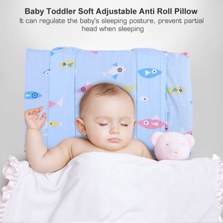 Newborn Baby Boy Girl Anti Roll Nursing Pillow Flat Head