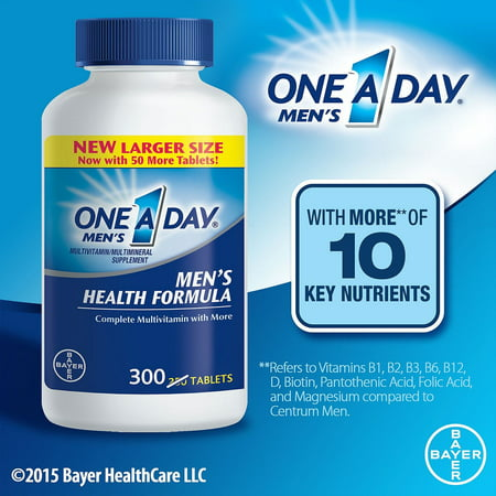 One A Day Men's Health Formula Complete Multivitamin Tablets, 300 (Vegetables Multivitamin Formula)