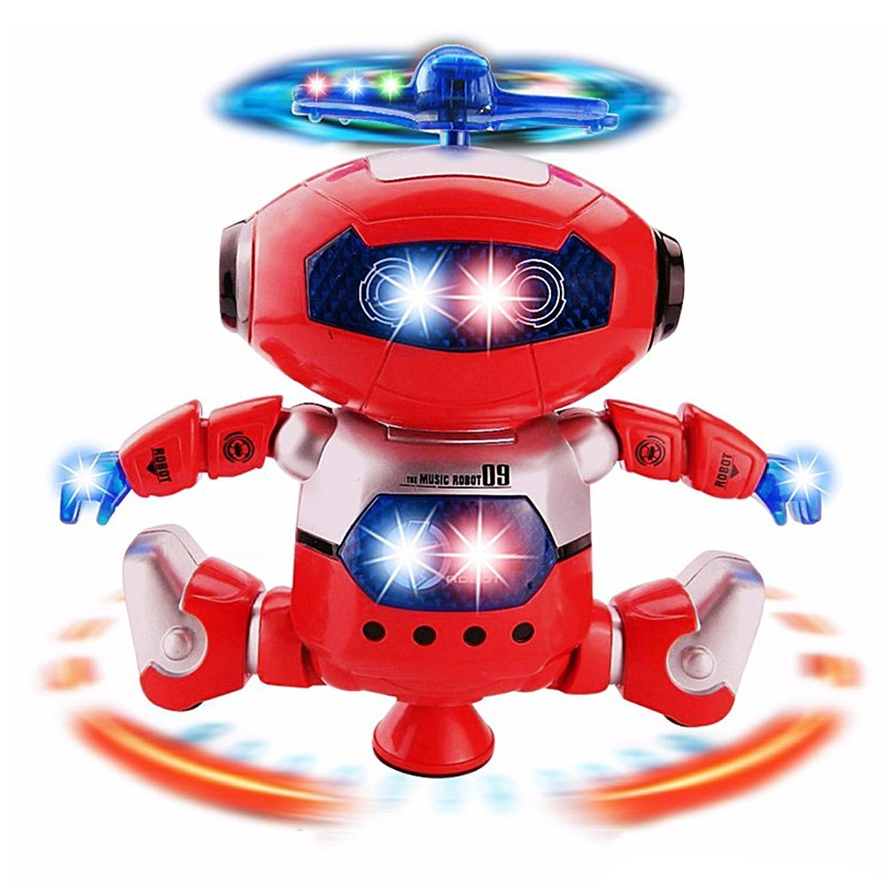 For 3-12 Years Kids Toddlers Interactive with Repeats Your Voice Etmury Recording Talking Robot for Kids Children Toys Head Sensing Colorful Flashing Lights