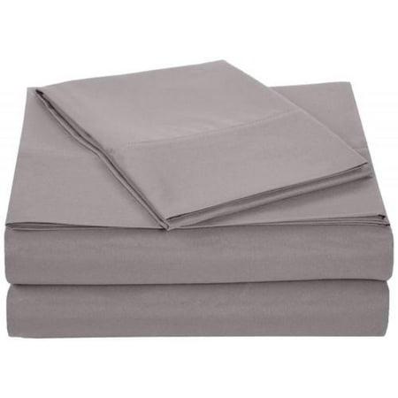 Queen Size Bed Sheet Set Brushed Microfiber Sheets Bedding 4 Pcs Bed Linens Q90