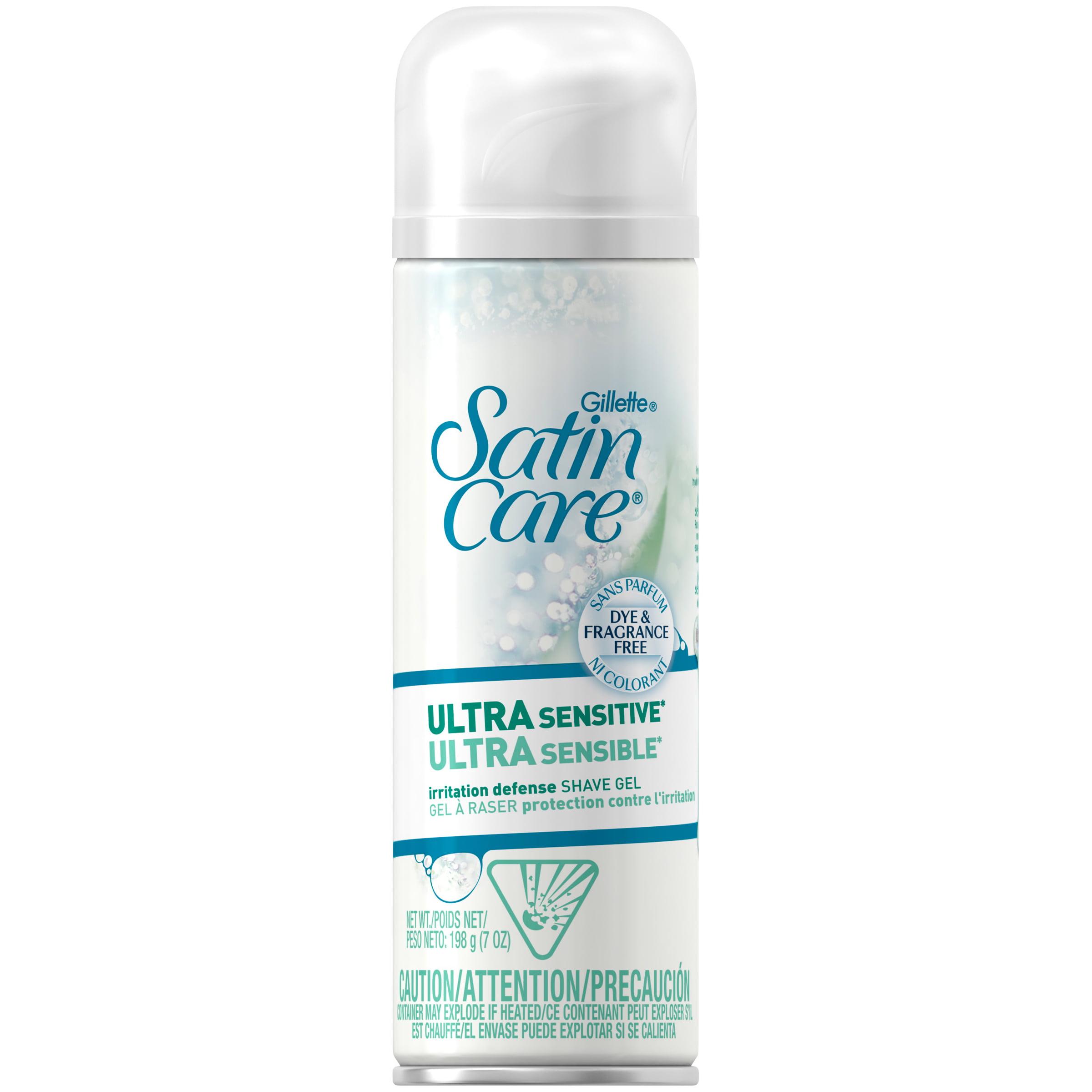 Gillette Satin Care Ultra Sensitive Shave Gel 7 oz. Spout Top Can