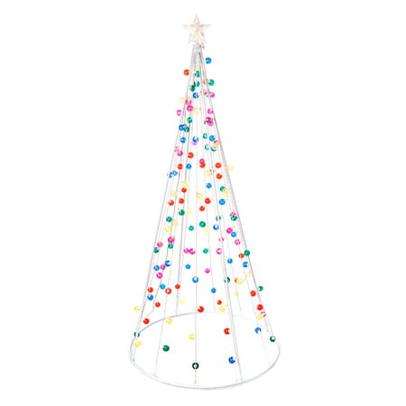 Holiday Time Pre-Lit 7' Multi-Functional Conical Artificial Christmas Tree,  Multi - Holiday Time Pre-Lit 7' Multi-Functional Conical Artificial