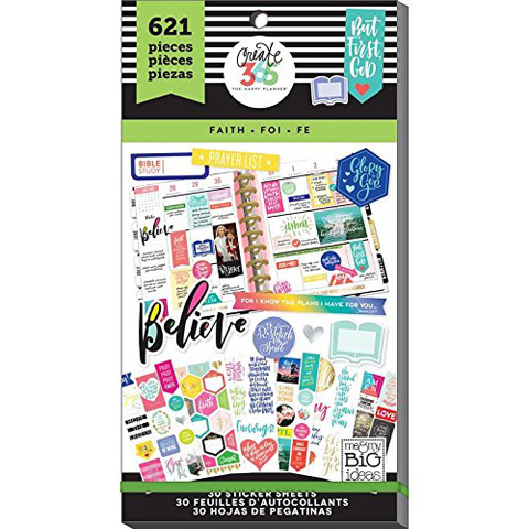 The Happy Planner Faith Stickers: 621 Pack