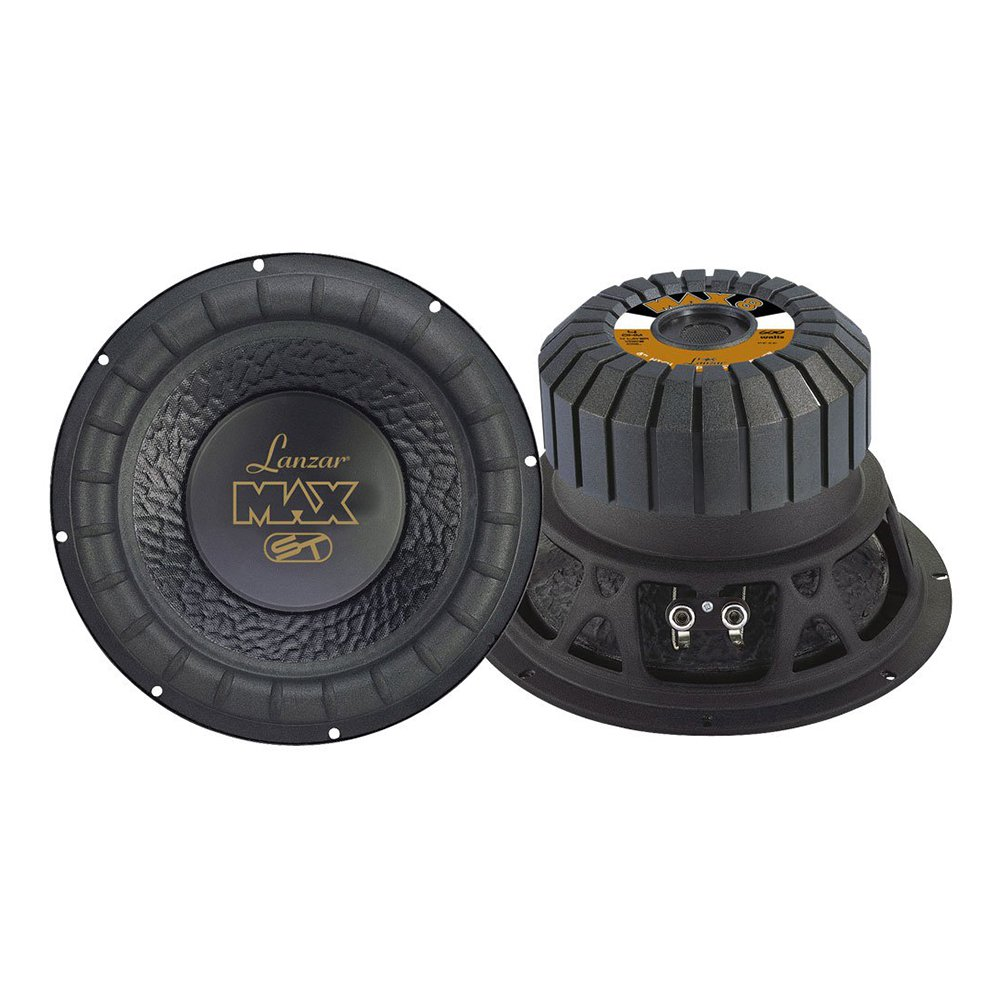 Lanzar 8 Inch 600W 4 Ohm 4 Layer Voice Coil Car Audio Subwoofer (2 Pack) | MAX8