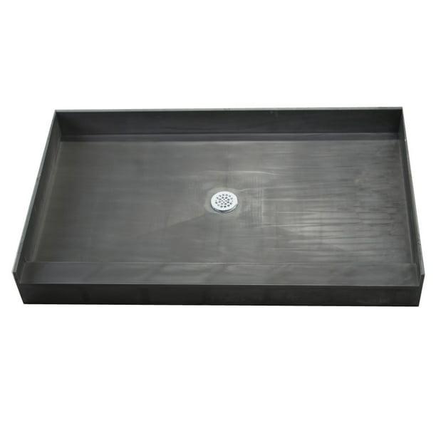 tile redi 4266c black redi base 42 x 66 rectangular shower base