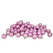 "Northlight 60ct Shatterproof Shiny Christmas Ball Ornament Set 2.5"" - Pink"