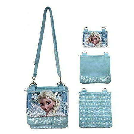 Disney Frozen Elsa Blue Adjustable Strap Messenger Shoulder Cross Purse Bag(SHIP 1 SET RANDOMLY) - Frozen Purse