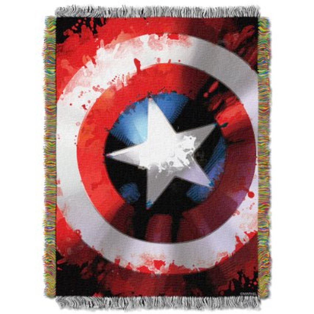 "Marvel Captain America ""Star Shield"" 48"" x 60"" Woven Tapestry Throw"