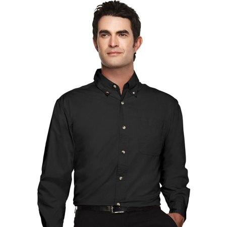 Tri-Mountain Men's Big And Tall Easy Care Twill Dress