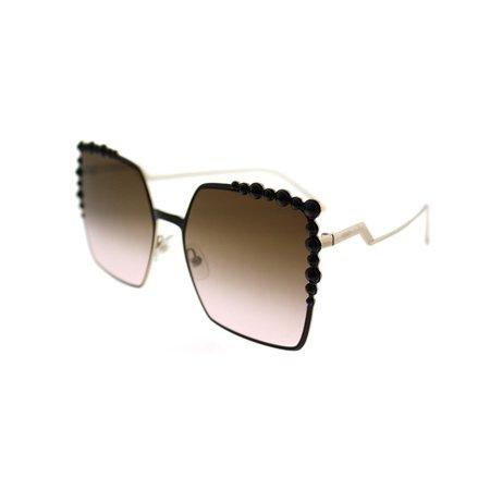 Fendi FF 0259/S 02O5 Square Black Sunglasses