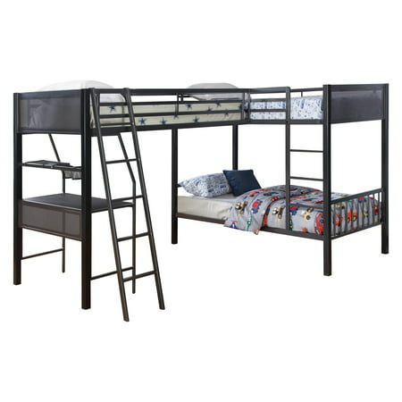 Coaster Furniture Meyers Twin Over Twin Bunk Bed with Optional Loft ()