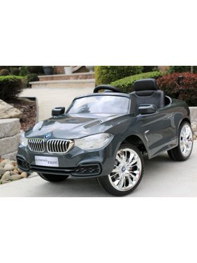 BMW 4-Series Grey Licensed 12V Kids Electric Ride-On Car with Remote Control