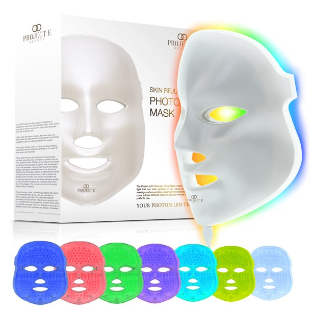 Project E Beauty Project E Beauty Led Photon Therapy 7 Color Skin Rejuvenation Treatment Face Mask Walmart Com Walmart Com