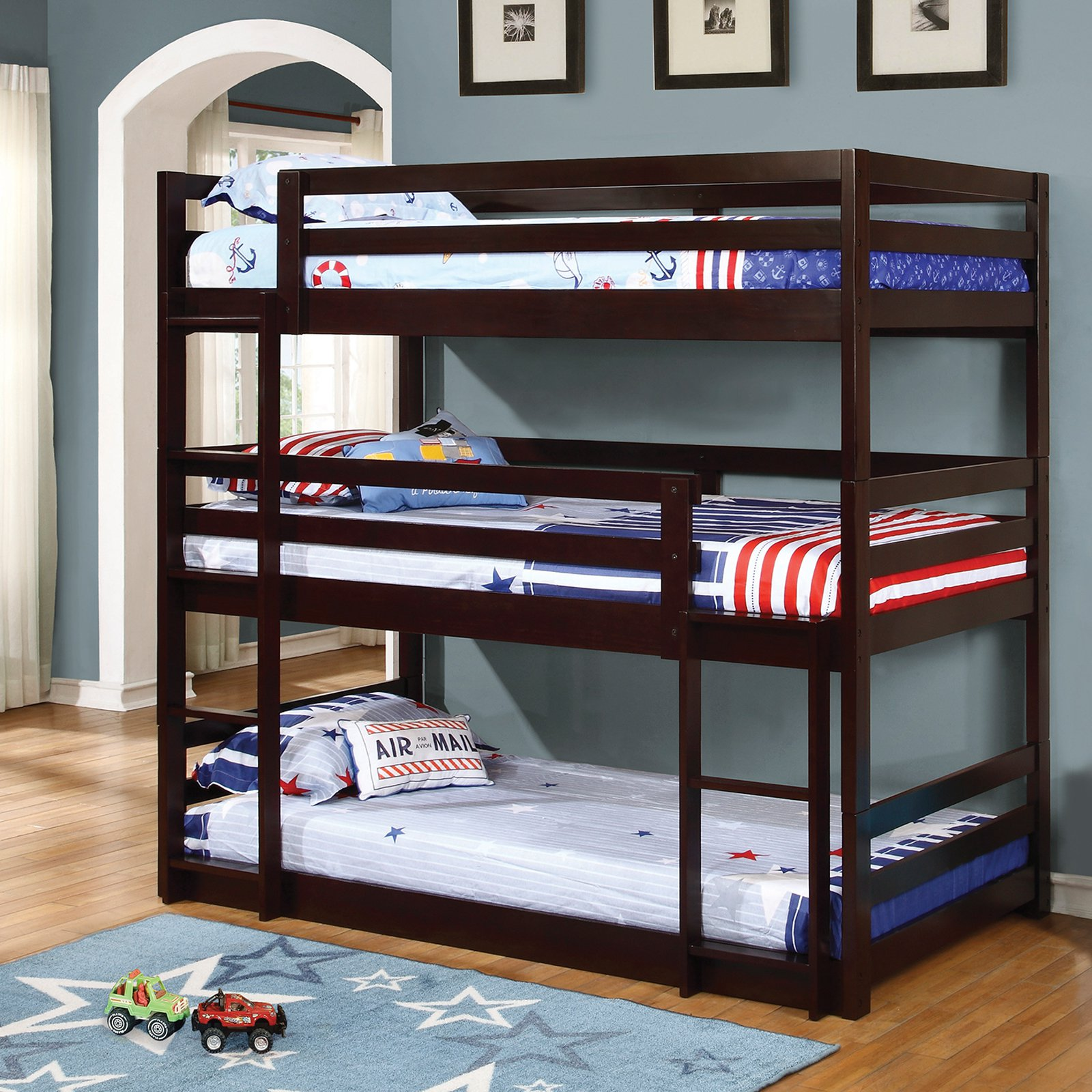 Coaster Furniture Triple Layer Bunk Bed by